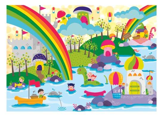 rainbow land Canvas Print