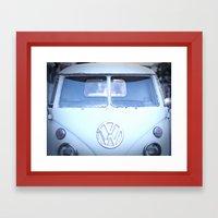 VW love Framed Art Print