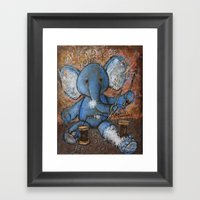 Mend Yourself. No one else can. Framed Art Print