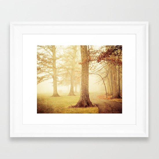 I Heard Whispering in the Woods Framed Art Print