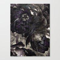 goth peony Canvas Print