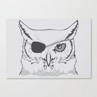 Owl Pirate Canvas Print