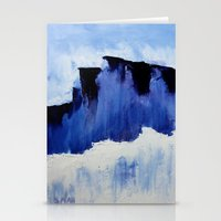 Cold Blue Stationery Cards