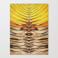 Palm Frond Leaf Macro Canvas Print