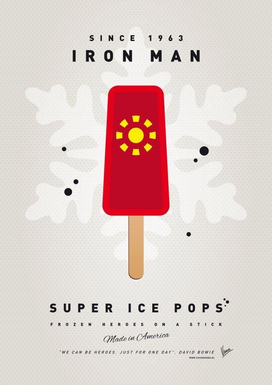 My SUPER ICE POP- No06 - IRON MAN Art Print