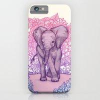 Cute Baby Elephant In Pi… iPhone 6 Slim Case