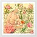 Rose Boy Art Print