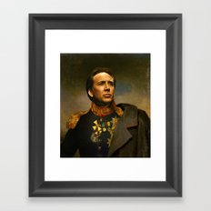 Nicolas Cage - replaceface Framed Art Print
