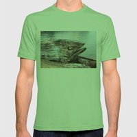 Fish Boat Mens Fitted Tee Grass SMALL
