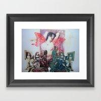 girl with wings Framed Art Print