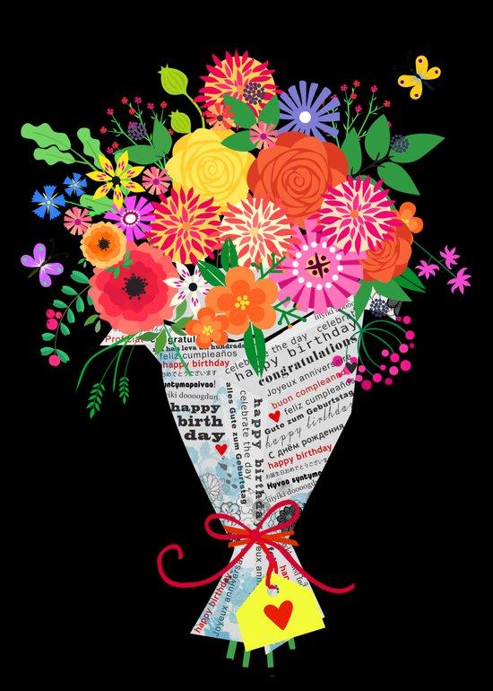 flowers in paper Art Print