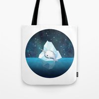 Baby Narwhal on Iceberg Tote Bag