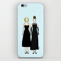 Little Black Dress of Audrey Marilyn iPhone & iPod Skin