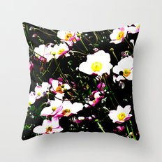 Pink Flowers (Edited)  Throw Pillow