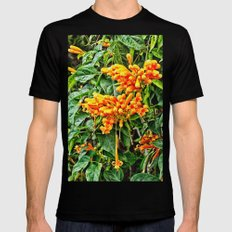 Spectacular orange trumpet flower SMALL Mens Fitted Tee Black