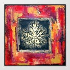 Leaf Imprint - Textured Painting Canvas Print