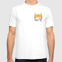 Convo Cats! Wally Mens Fitted Tee White SMALL