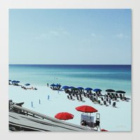 Day At The Beach Serie #… Canvas Print