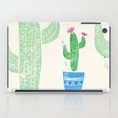 Linocut Cacti #2 in a pot iPad Case