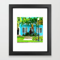 #side street still life miami Framed Art Print
