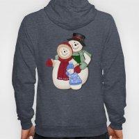 Snowman And Family Glitt… Hoody