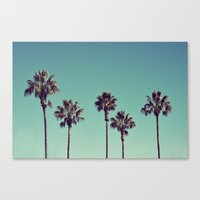 Canvas Print featuring California Palm Trees by Lawson Images
