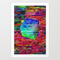 Glitch Cubed No.2 Art Print