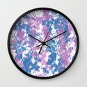 Elegant Painterly Floral Abstract Wall Clock