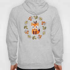 LITTLE FOX WITH AUTUMN BERRIES Hoody