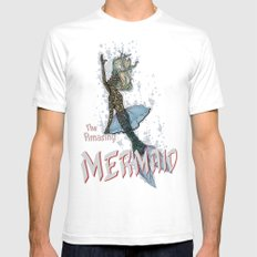 The Amazing MERMAID Mens Fitted Tee White SMALL