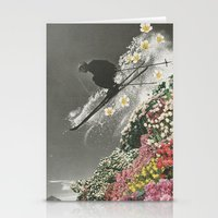 Spring Skiing Stationery Cards