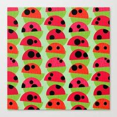 Leaf and Ladybird Canvas Print