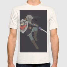 Link(Smash)Dark Mens Fitted Tee Natural SMALL