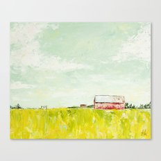 Oil painting house Canvas Print