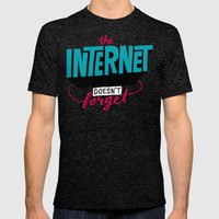 The Internet Doesn't Forget Mens Fitted Tee Tri-Black SMALL
