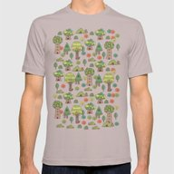 Forest Neighbors Mens Fitted Tee Cinder SMALL