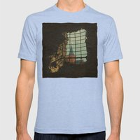 From A Castle Mens Fitted Tee Tri-Blue SMALL