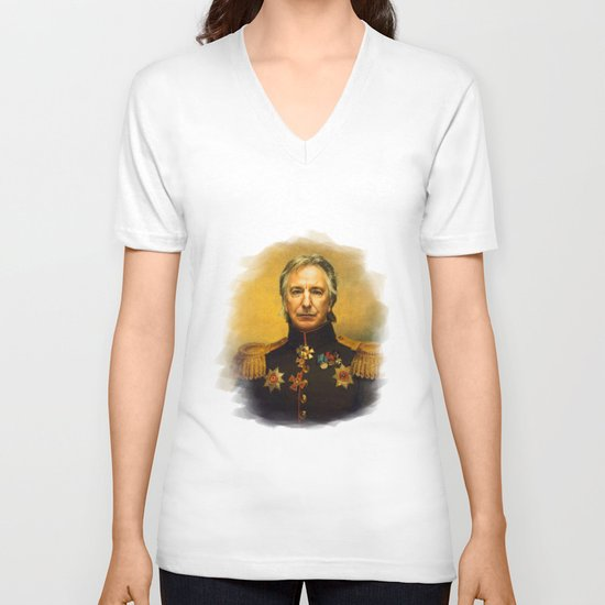 Alan Rickman - replaceface V-neck T-shirt