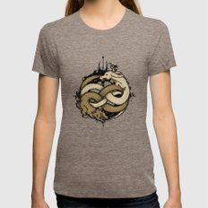 NEVERENDING FIGHT Womens Fitted Tee Tri-Coffee SMALL
