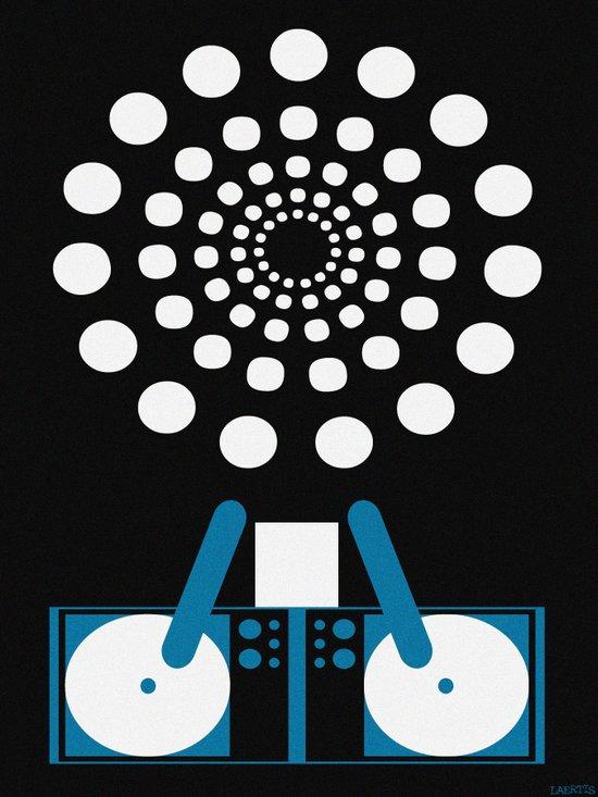 MOONLIGHT DJ Art Print