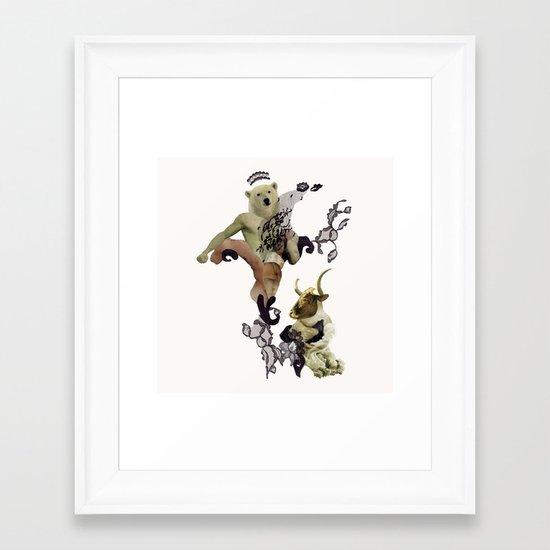 Wrestling the Minotaur Framed Art Print