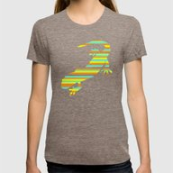 Salamander Stripes Womens Fitted Tee Tri-Coffee SMALL