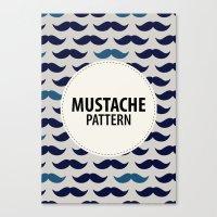 MUSTACHE PATTERN Canvas Print