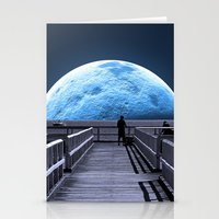 house Stationery Cards featuring Once in a blue moon by Donuts