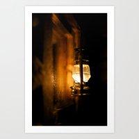 Oil Lamp Art Print