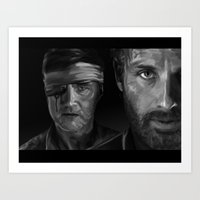 Rick and The Governor Art Print