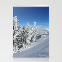 Deep Snow And Low Clouds… Stationery Cards