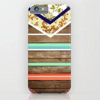 chevron  wood design iPhone 6 Slim Case