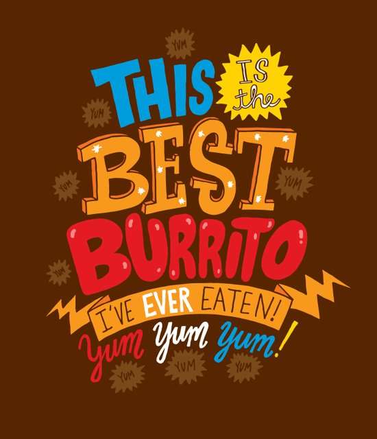 Best Burrito Art Print