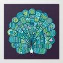 Peacock at noon Canvas Print